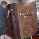 Giant book prop.
